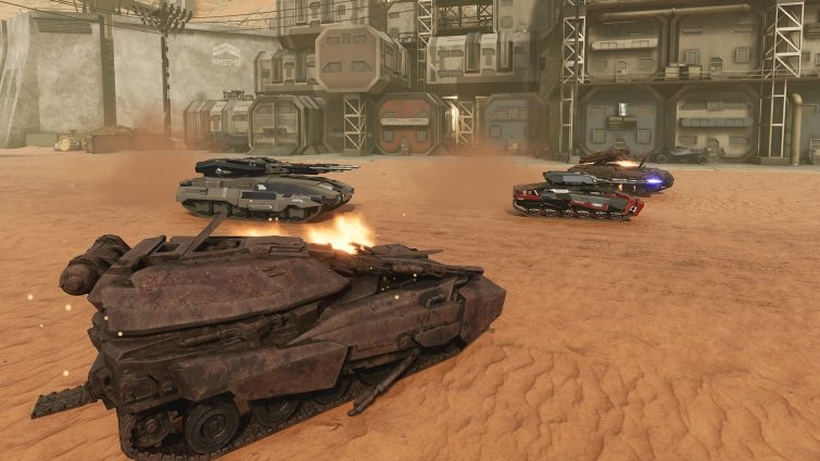 The main characters here - the most powerful combat vehicles.